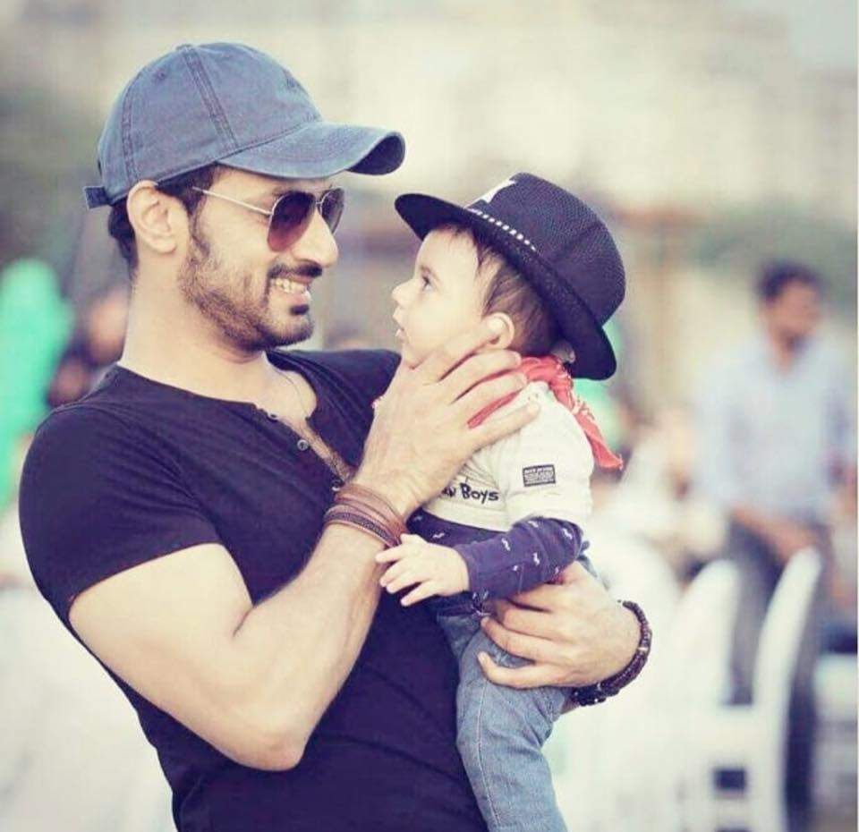 Adorable Shot Of Zahid Ahmed With His Son
