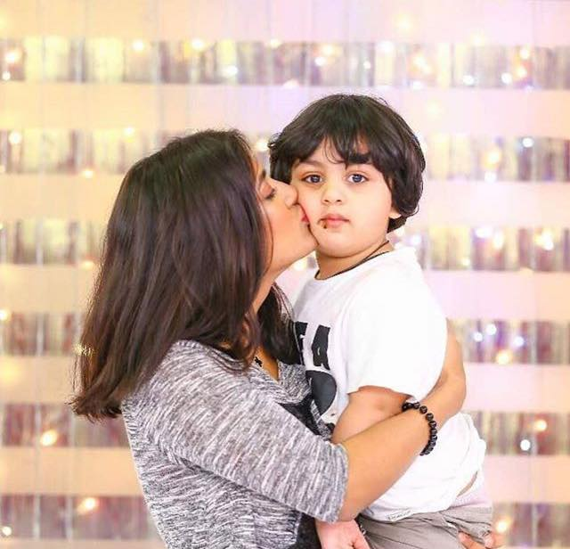 Adorable click Of Mathira With Her Son