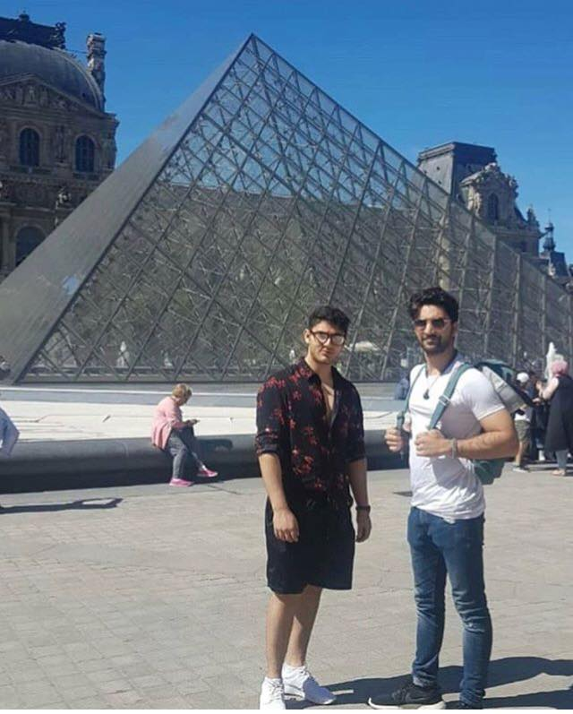 Ahad Raza Mir With His Brother In Paris