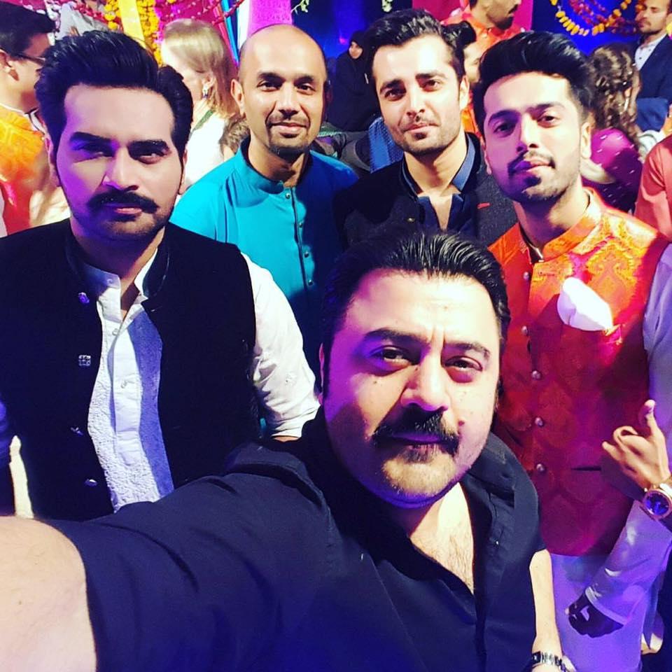 Ahmad Butt, Humayun, Hamza Abbasi & Fahad Mustafa At Abdullah Seja Mehndi