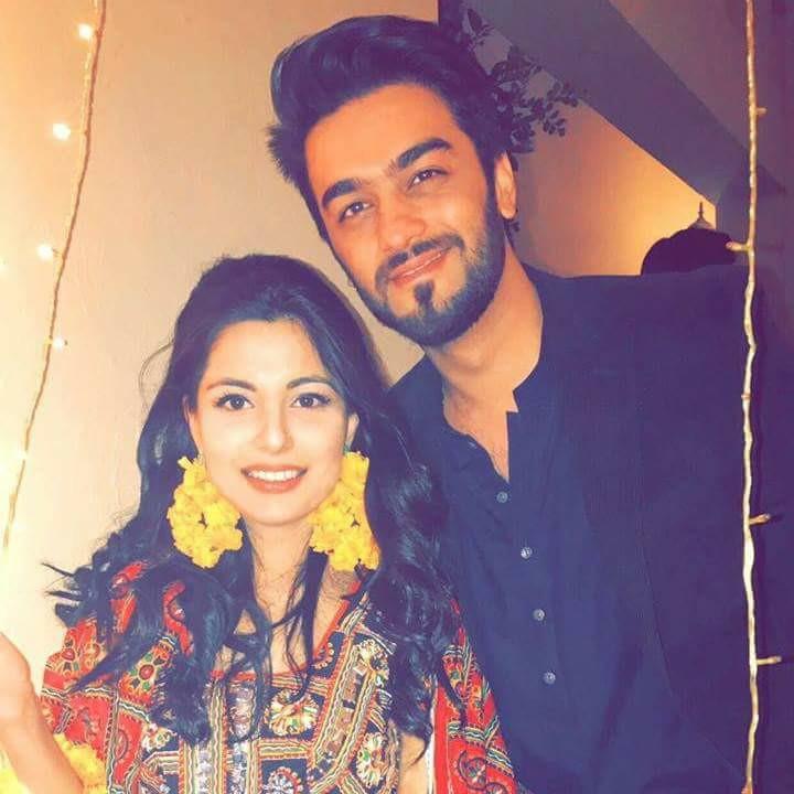 Ahmad Zaib With His Wife