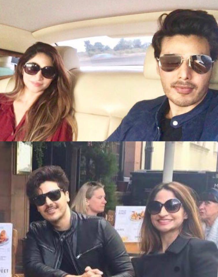 Ahsan Khan With His Wife
