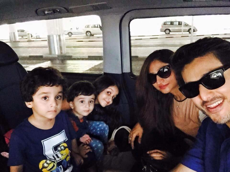 Ahsan Khan With Wife & Kids