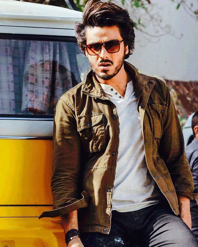 Ahsan Khan during shooting of his upcoming film ' Chupan Chupai '