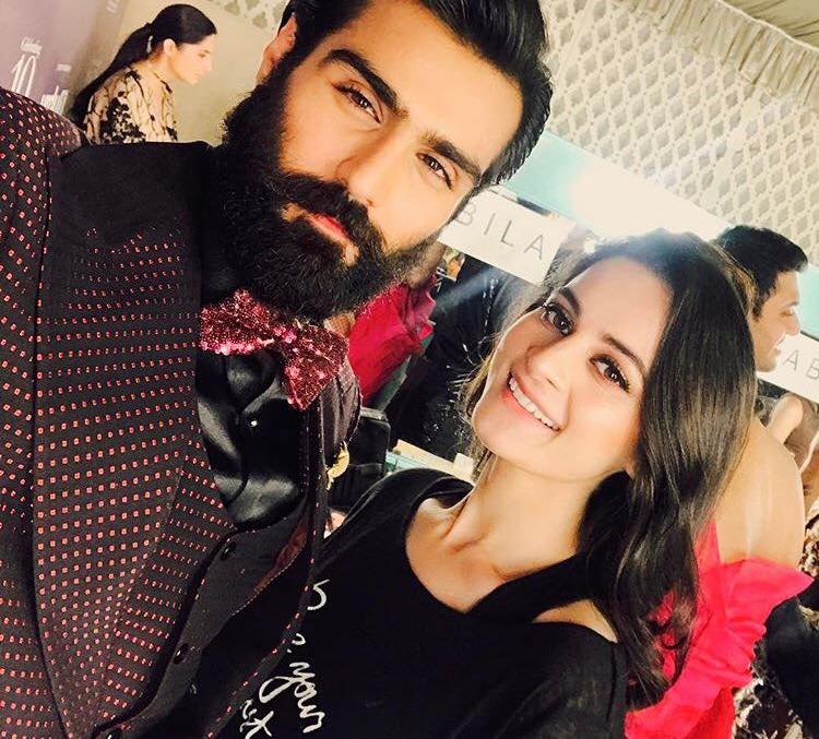 Aiman Khan With Hasnain Lehri