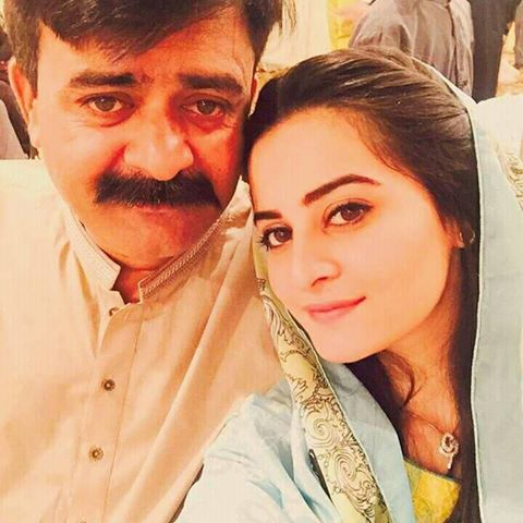 Aiman Khan‬ With Her Father