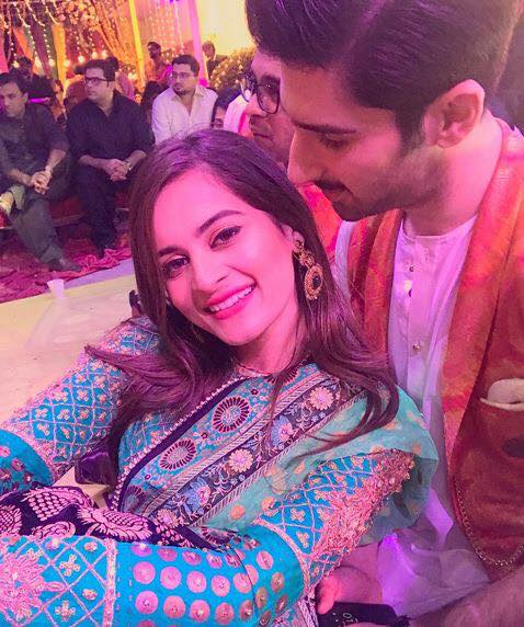 Aiman Khan With Muneeb Butt
