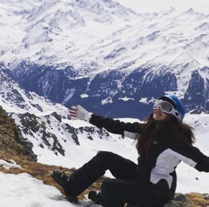 Ainy Jaffri Having A Great Time In Verbier