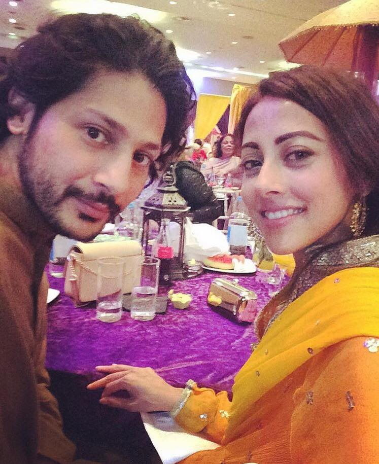 Ainy Jaffri With Her Husband At A Wedding In London