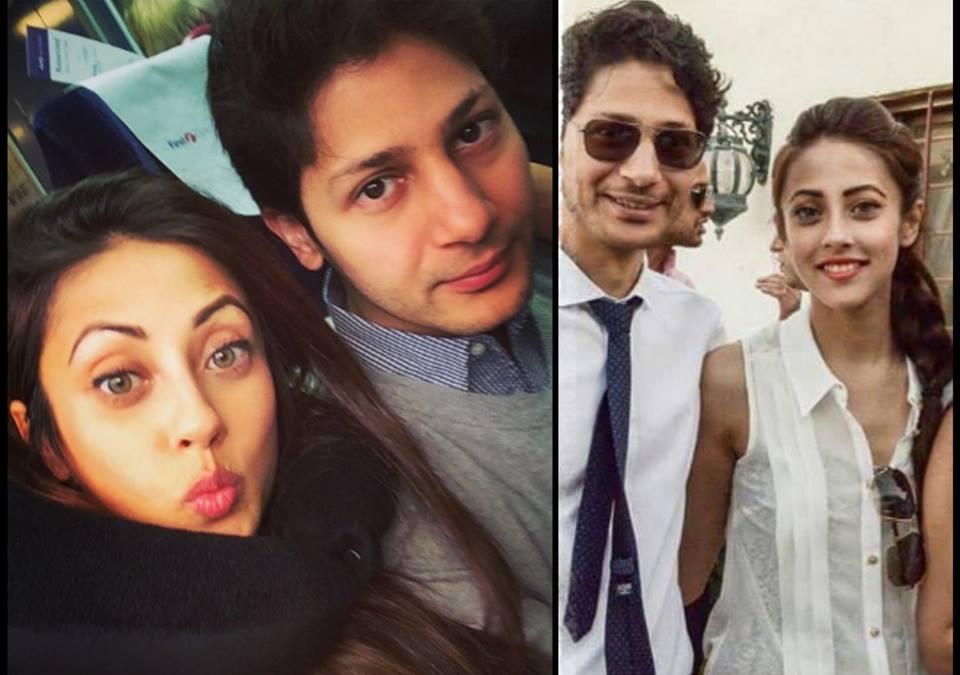 Ainy Jaffri With Her Husband Faris Rahman In UK