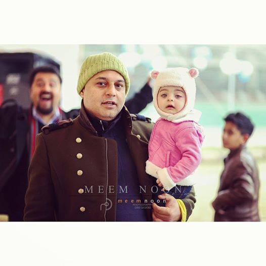 Ali Azmat With His Cute Daughter