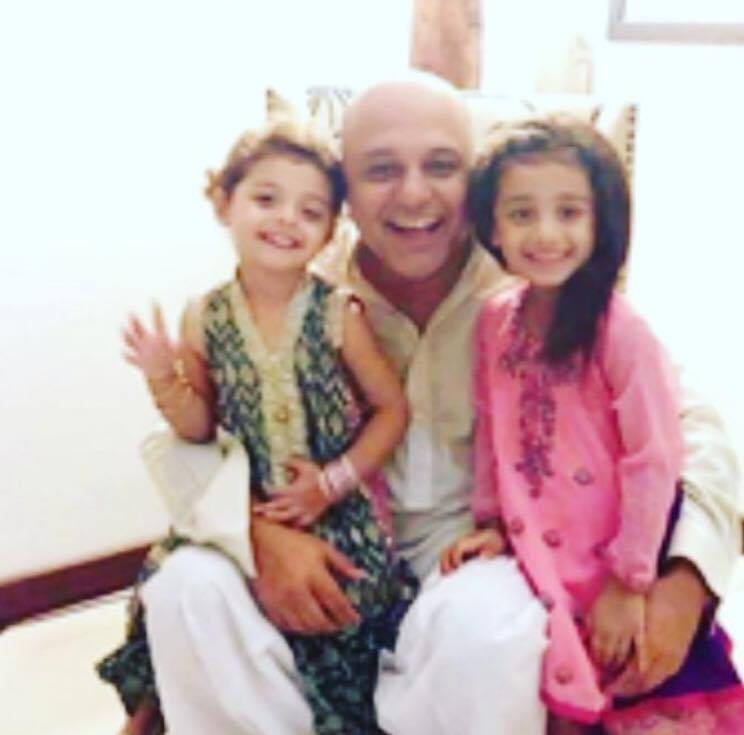 Ali Azmat With His Daughters