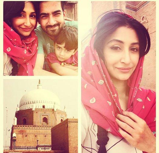 Ali Safina with wife Hira Taren in Multan