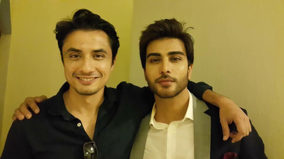 Ali Zafar And Imran Abbas At The Screening Of Jaanisaar in Mumbai