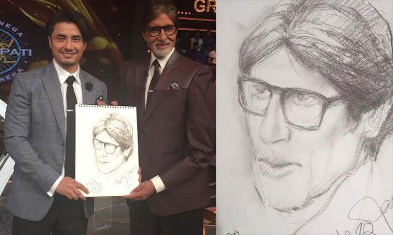Ali Zafar Made Amitabh Bachchan Sketch