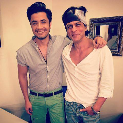 Ali Zafar With Bollywood Actor King Khan
