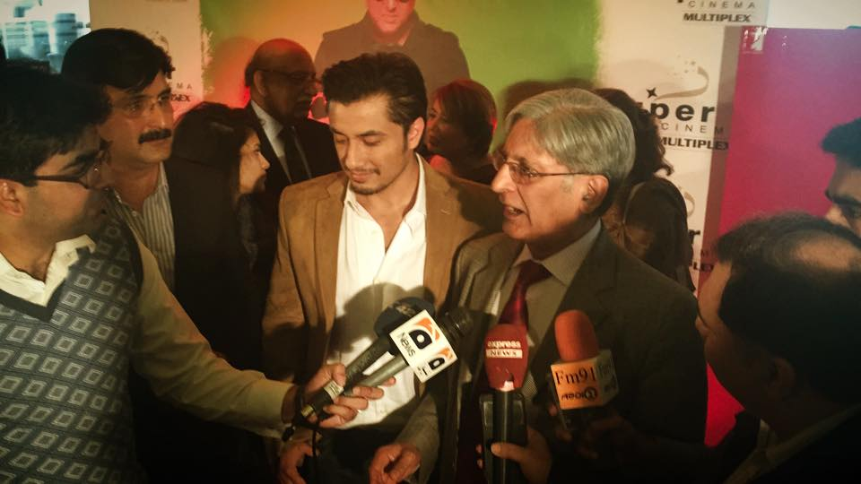 Ali Zafar With Chaudhry Aitzaz Hussain
