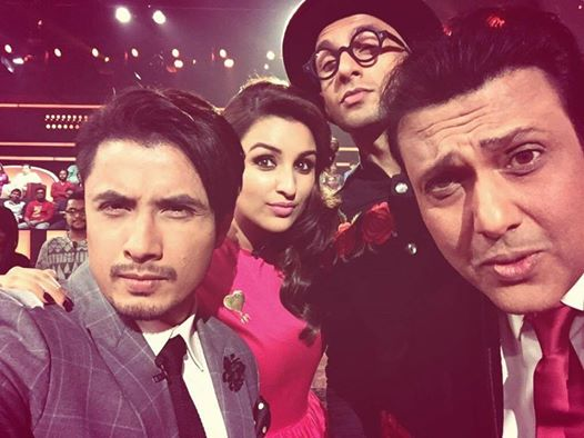 Ali Zafar With Co Actors Promoting Movie Kill Dil