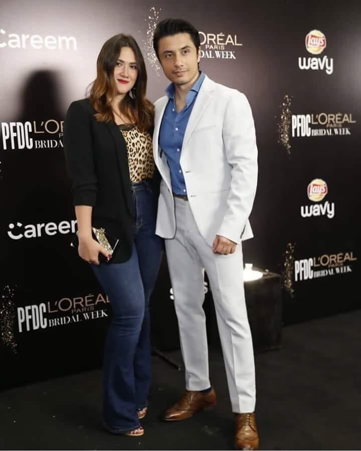 Ali Zafar With His Wife Ayesha Fazil