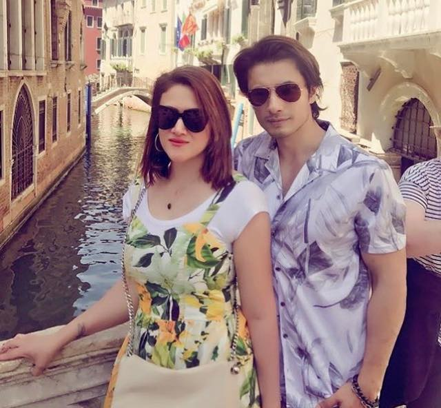 Ali Zafar & His Wife Ayesha In Venice