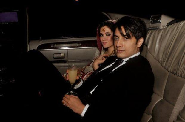 Ali Zafar with Wife