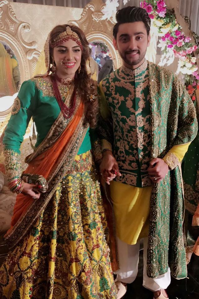 Amanat Ali & Sarah Looking Beautiful On Their Mehndi