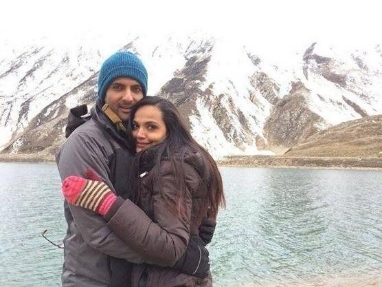 Amina Sheikh With Mohib Mirza At Vacation