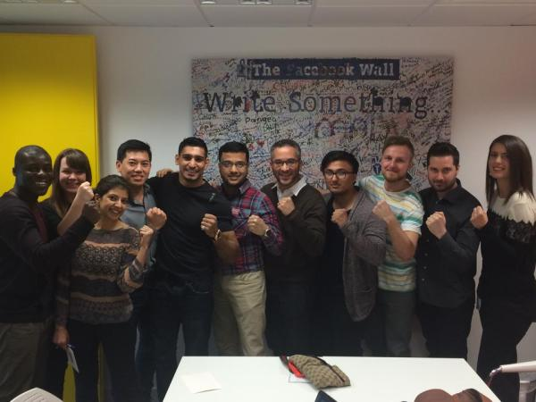 Amir Khan At FAcebook HQ London