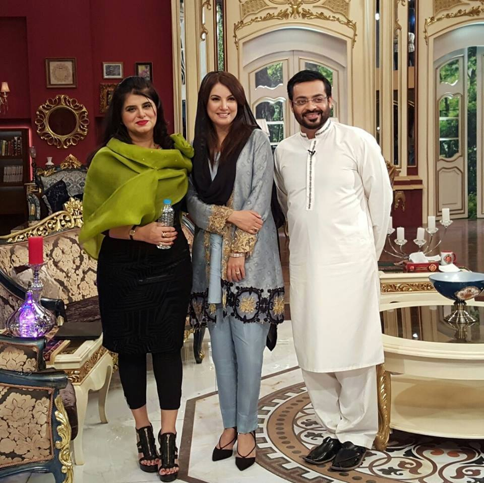 Amir Liaqut Hussain with Reham Khan