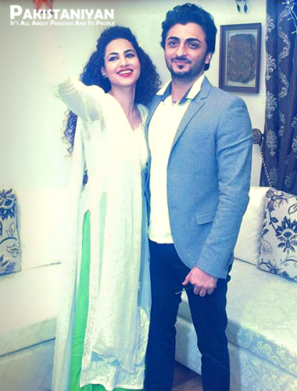 Annie Khalid With Her Husband Asad