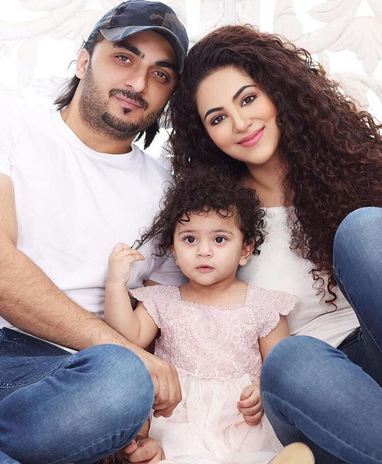 Annie Khalid With Her Husband & Daughter