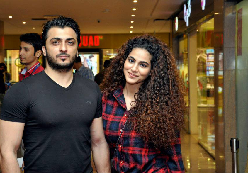 Annie Khalid With Husband At Cinepax To Watch Furious 7