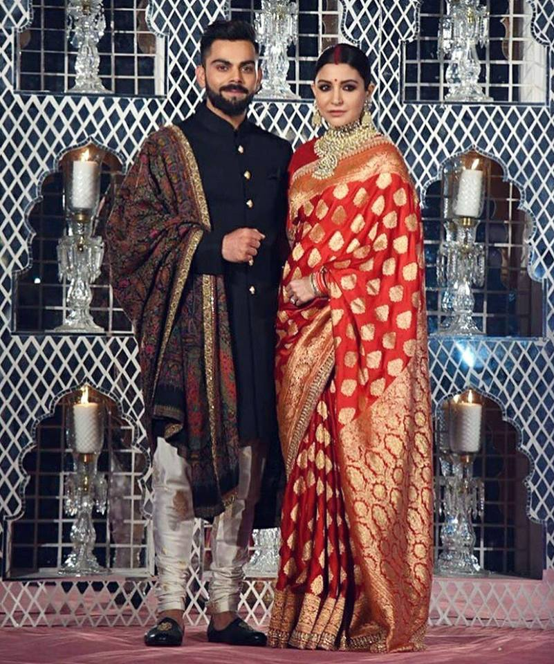 Anushka & Virat In New Delhi For Their Wedding Reception