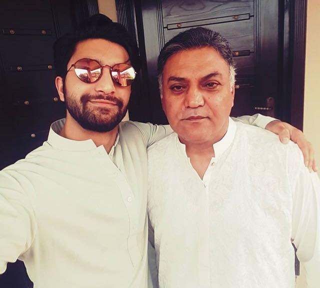 Asif Raza With His Son Ahad Raza