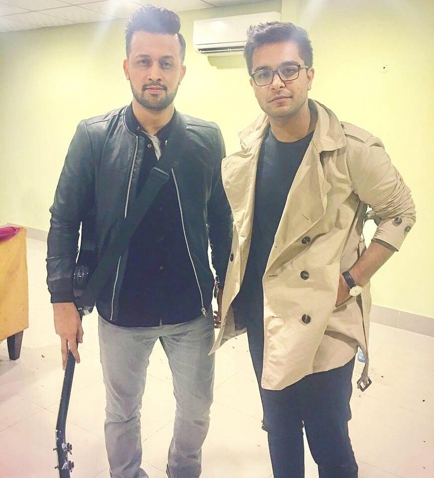 Asim Azhar With Atif Aslam In Karachi