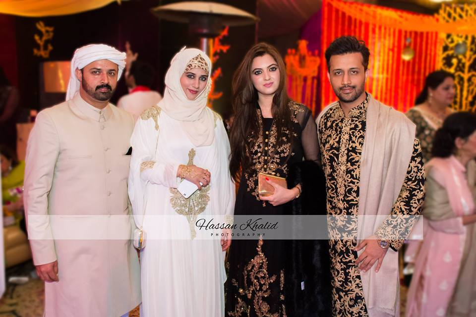 Atif Aslam And Shahbaz Aslam With Their Spouse
