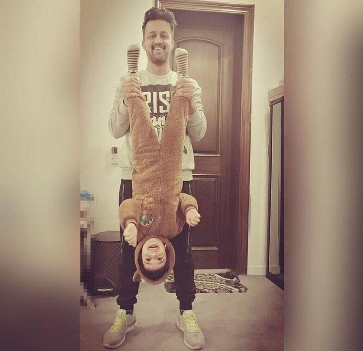 Atif Aslam Having A Good Time With His Son