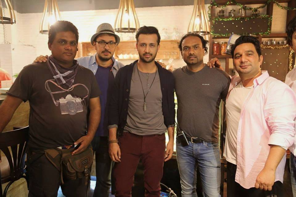 Atif Aslam On The Set Of His Upcoming Music Video Jeena Jeena