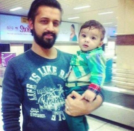 Atif Aslam With His Little Cute Son
