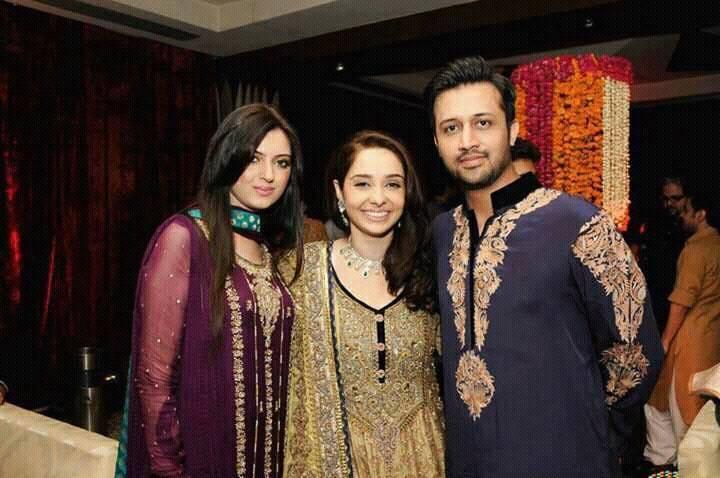 Atif Aslam With His Wife & Juggan Kazim