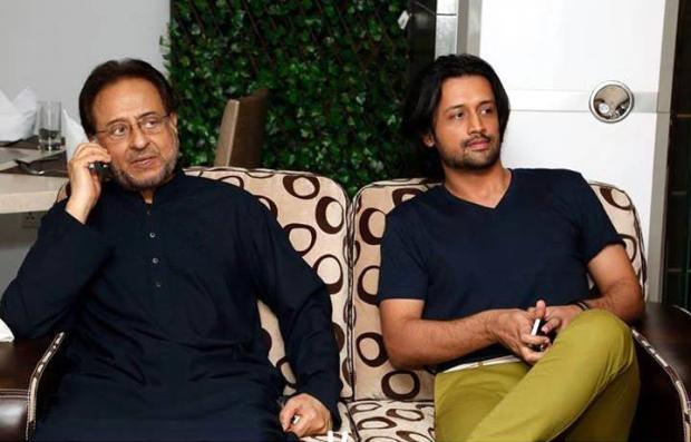 Atif Aslam With Legendary Actor Nadeem
