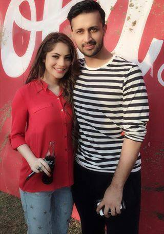 Atif Aslam With Neelam Munner For Upcoming Cricket World Cup Ad