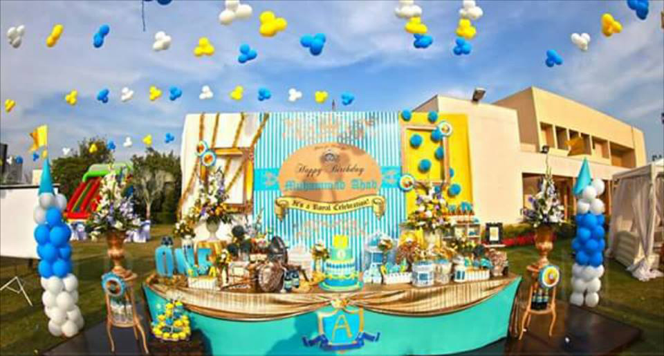 Atif Aslam's Son Birthday Set Up