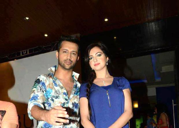 Atif Aslam with wife