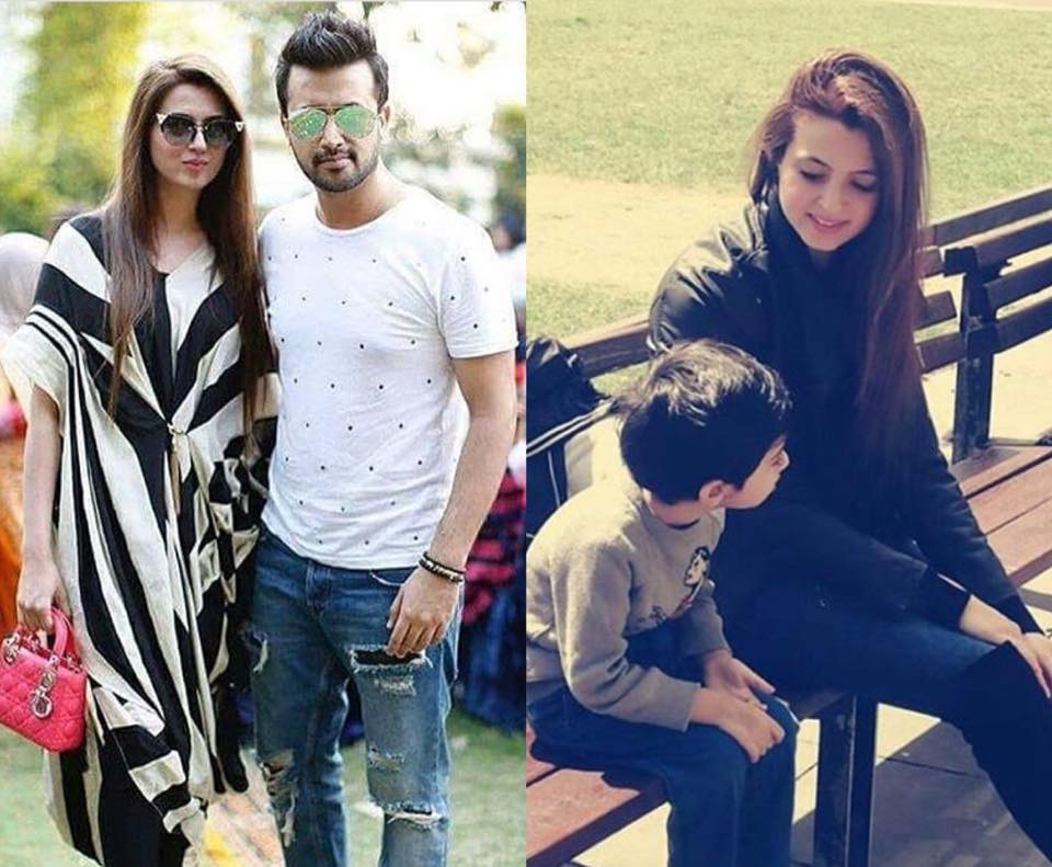 Atif & Sarah With Their Little Son
