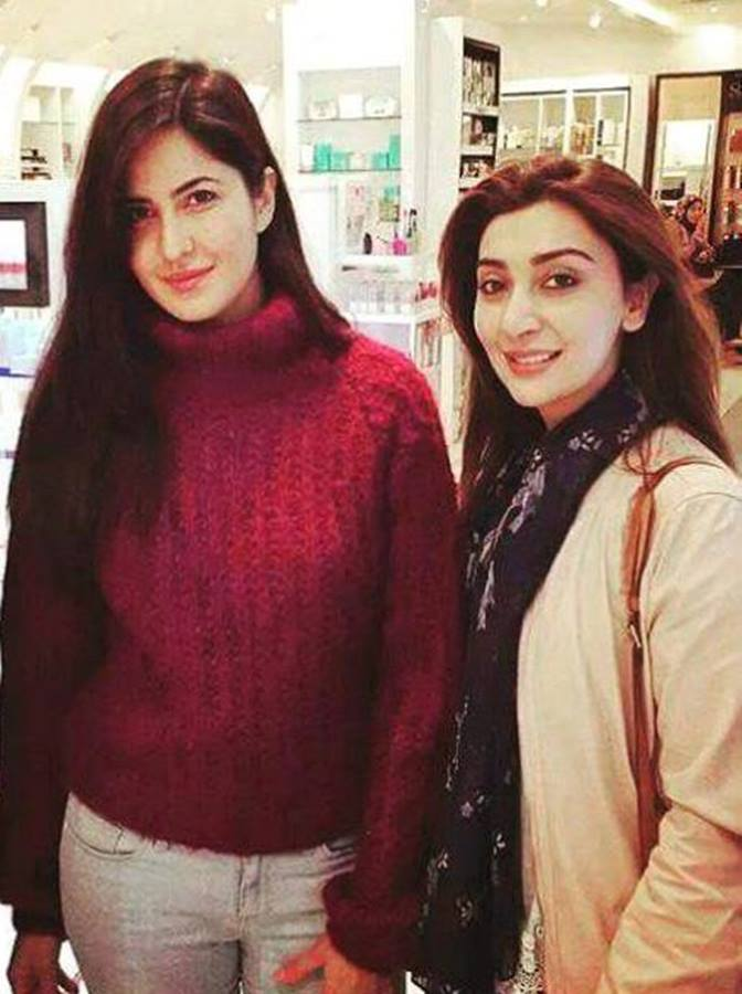 Ayesha Khan With Katrina Kaif in London