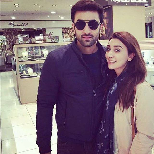 Ayesha Khan With Ranbir Kapoor On Her Birthday