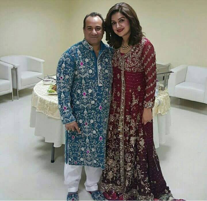 Ayesha Sana with rahat before concert in Doha