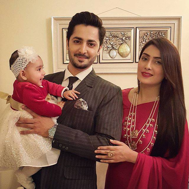 Ayeza Khan & Danish Taimoor with their cute daughter Hoorain