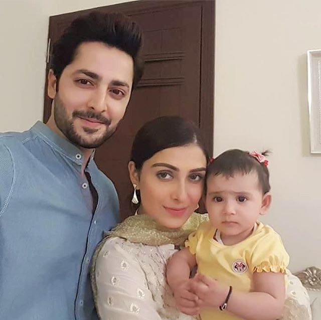Ayeza & Danish With Baby Hoorain